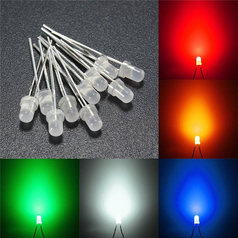 New 1.5mm Mini White Diffused LED Leds Light 100pcs Resistors Made in Taiwan