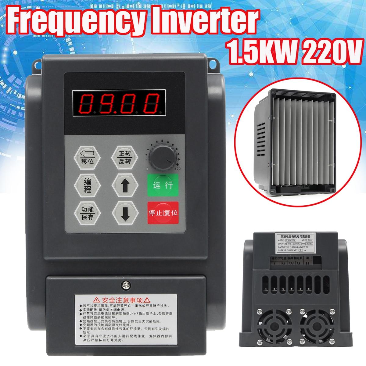 Single Phrase Inverter 220V 1.5KW VFD Speed Controller Single Phrase Frequency Converter swedish phrase book cd