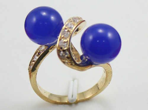ร้อนขาย>@@ 2ทางเลือกขายส่งสอง8มิลลิเมตรสีฟ้าหยกแหวนแฟชั่นดีไซน์(#7.8.9) #-เจ้าสาวเครื่องประดับจัดส่งฟรี