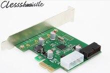 Pci express адаптер pci-e карты usb 3.0 Расширение Добавить На Карты преобразователь С 4 pin + USB 3.0 20pin Разъем питания