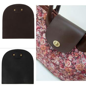 13.5x12.5cm Bag Flip Cover PU Leather Replacement Bag Accessories with Lock Handmade DIY Handbag Shoulder Bag Parts Black KZ0097 twist lock detail pu shoulder bag