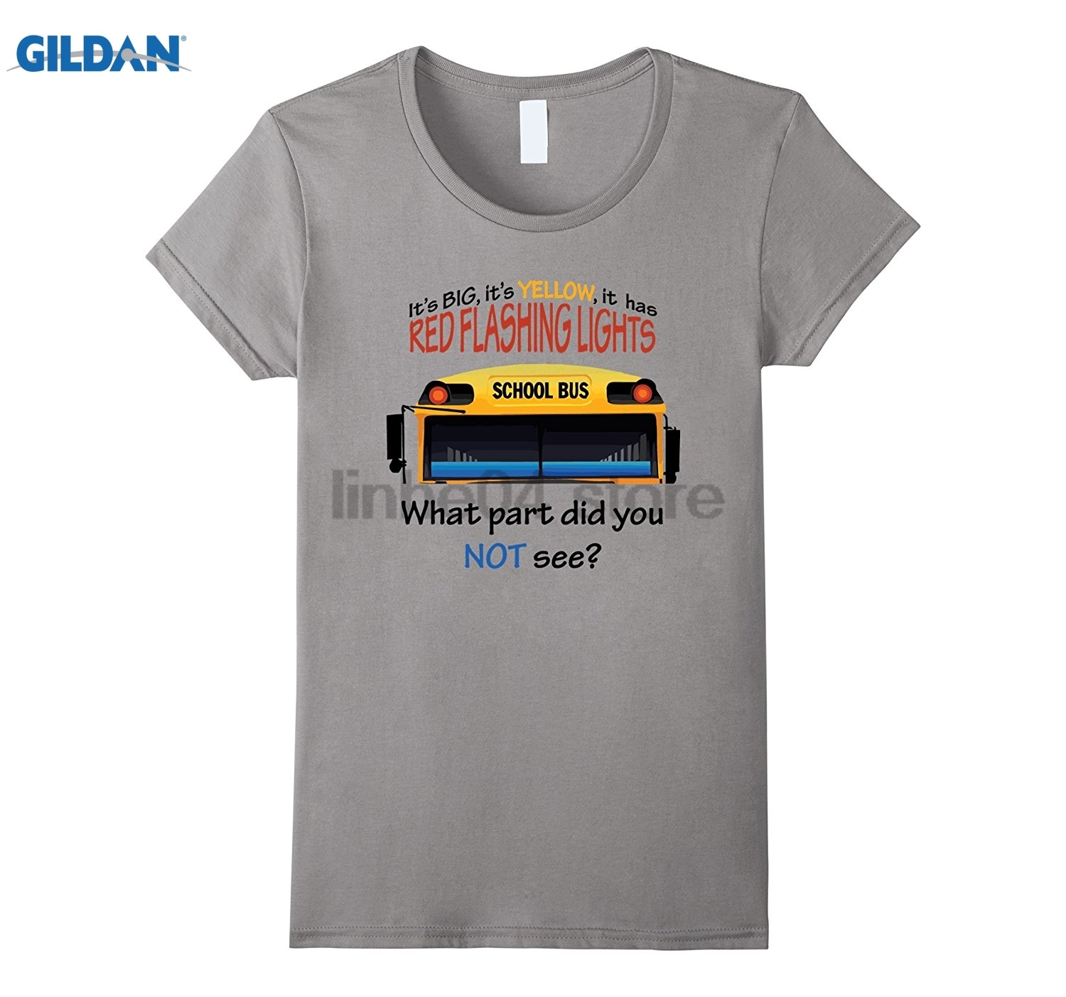 GILDAN School Bus Driver Funny Quote T Shirt Its Big and Yellow Womens T-shirt