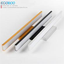 ECOBRT NEW Modern Aluminum LED wall lamps in Bathroom over Mirror Top bathroom lights 41cm 61cm 81cm Long deco lamp