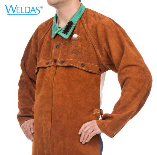 Cow Leather Welding Apron Jackets Fire Retardant FR Split Cow Leather Cape With Bib