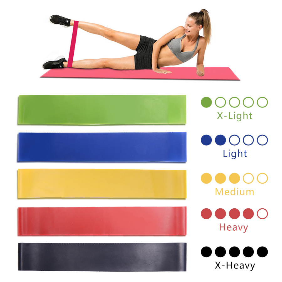 Resistance Band Loop Yoga Pilates Home GYM Fitness Exercise Workout Training DMX