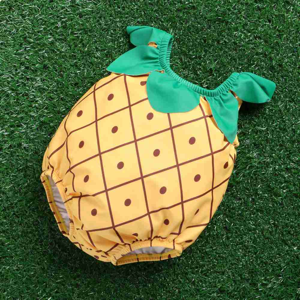 Jednoczęściowy słodkie stroje kąpielowe dla dzieci z kapeluszem - Odzież dla niemowląt - Zdjęcie 2