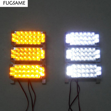FREE SHIPPING  WHITE 6x22 LED car truck strobe blinker flash light 12V 3 FLASH MODE