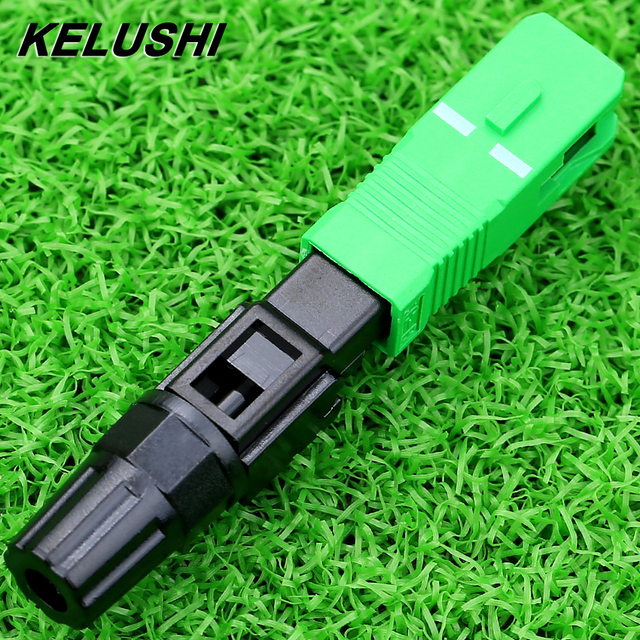 KELUSHI High Quality 100pcs/lot Fiber Optic Cold Connector wholesale SC APC Quick Splicer SC/APC Adaptor fast shipping