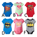 New Arrival Baby Romper Cotton Short Sleeve Superman Batman One Piece Body Suits Baby Romper Clothing For 0-2T CD67