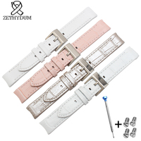 The crocodile leather strap watch belt womens watchband 17mm Genuine leather watch strap a series of Lovely