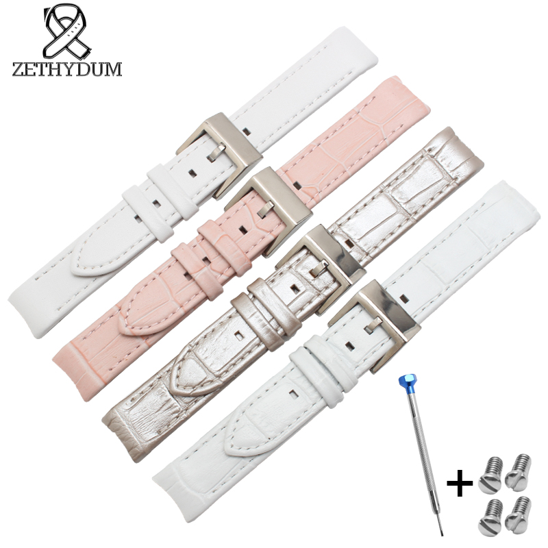 The crocodile leather strap watch belt womens watchband 17mm Genuine leather watch strap a series of Lovely women crocodile leather watch strap for vacheron constantin melisa longines men genuine leather bracelet watchband montre