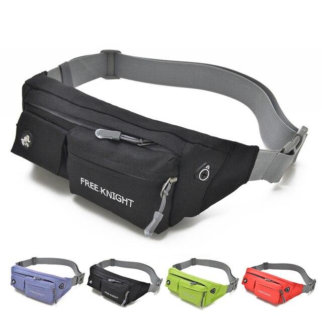 898bd42be5 Free Knight Men Women Nylon Running Waist Bags Outdoor Sport Waist Pack  Holder Jogging Belt Belly