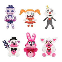 Cartoon FNAF Five Nights at Freddy's Sister Location-Funtime Movie Freddy Foxy Bonnet Lolbit Ballora Plush Stuffed Toy 7 styles недорого