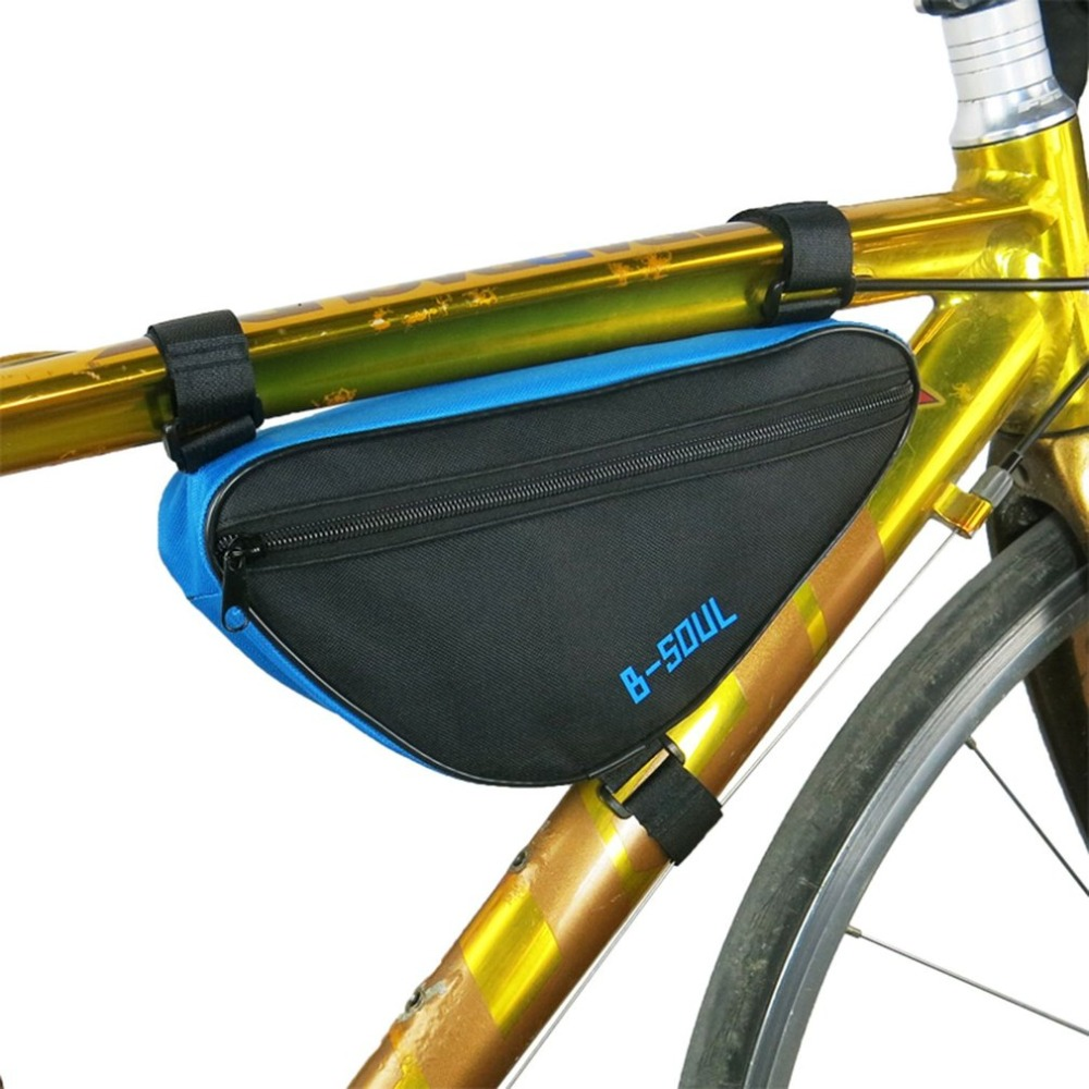 Bike Bicycle Cycling Top Tube Front Frame Pouch Storage Bag Pannier Portable New