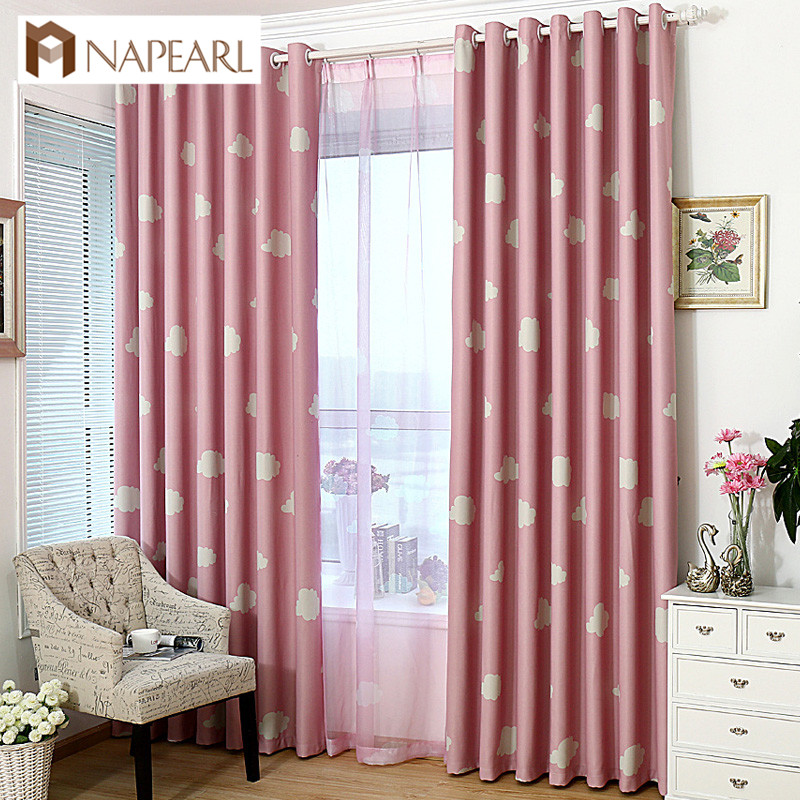 NAPEARL Window Shades Bedroom Blackout Cartoon Home Decor Blackout Curtains All-match Tulle Blackout Cortinas Custom Made Drapes
