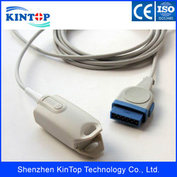 Frete grátis ge adulto dedo clip spo2 sensor, ohmeda módulo, 11 pinos, 3m para carescape v100 paciente monitor com ce aprovado