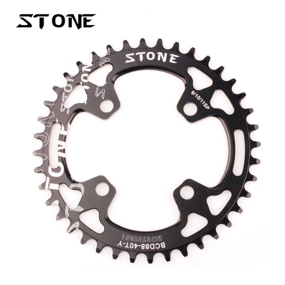 Stone Bike Chainring 88 BCD 88mm Circle Round For MTB XTR985 M985 Chain Ring Narrow Wide