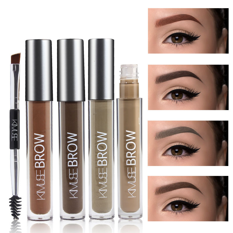 AIKIMUSE Eyelashes Waterproof Eyebrow Pencil Eyebrow Makeup Set Eyebrow Gel Makeup Brushes Perfect in 2 Mins Black Brown Tinted