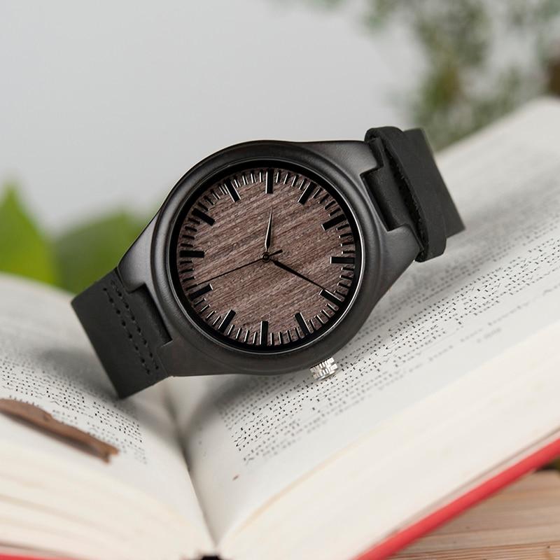 fd54091e2a6 Relogios masculinos baratos Homens Relógio de Quartzo Relógios De Pulso De  Madeira Material  De MadeiraTamanho do diâmetro  45mmLargura de ...