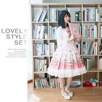 Lolita Sleeveless Dress Printed Cub Lovely Girl Lolita Fashion Lolita Maid Cosplay Tea Party Loli Lolita Doll Princess