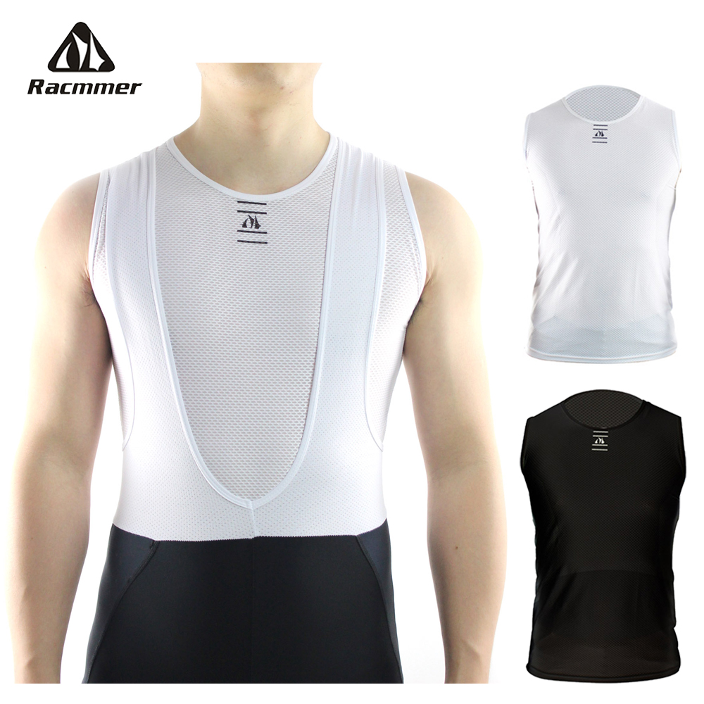 Mens Sleeveless Base Layer Top Cool Mesh Lightweight Cycling White Ergonomic Fit