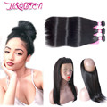 360 Lace Frontal With Bundle Brazilian Straight Hair With Closure Lace Frontal Closure With Bundles Straight Hair With Frontal