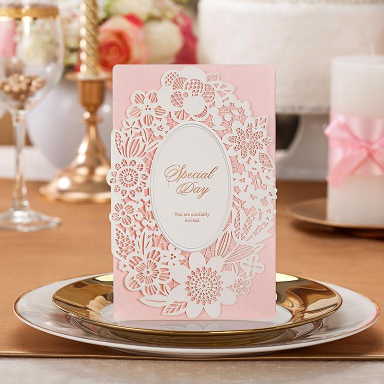 Free Shipping Fairy Tale Unique Laser Cut Flower Free Personalized ...