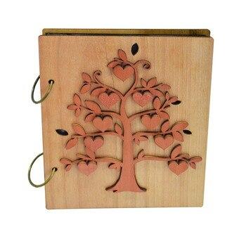 """Giftgarden 4x6 """"drewnianą pokrywą drzewo genealogiczne, luźny liść, Album fotograficzny zdjęcie książki prezent dla 120 zdjęcia"""
