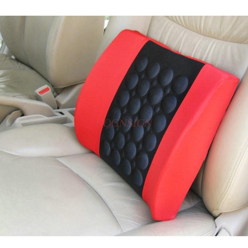 Car Four Seasons Cushion Electric Massager Lumbar Pad Seat Pillow Waist Backrest Headrest 12v Electronic Vibration Massage