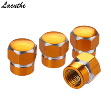 hot deal buy  4pcs aluminum car vehicle wheel tire valve stem caps dust covers auto motorcycle airtight stem bicycle air caps styling hexagon