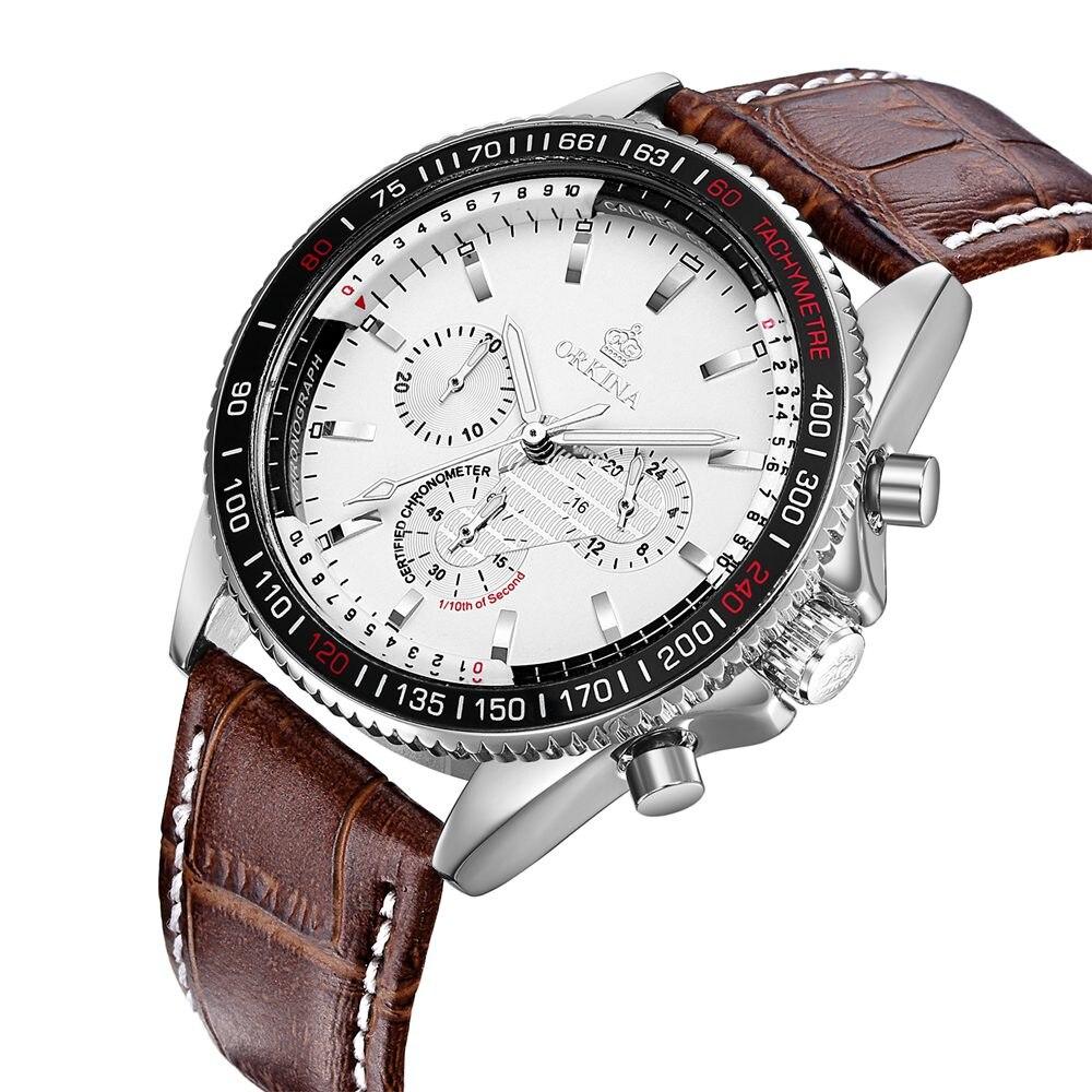 ФОТО 2017 MR.Orkina Casual Men's Relogio Masculino Day Quartz Watch Watches PU Leather Wrist Watches Gift Box Free Ship