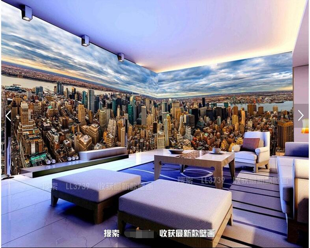 Us 13 25 47 Off Custom Modern Landscape Wallpaper New York City Mural For Living Room Bar Ktv Restaurant Background Home Decor Wallpaper In
