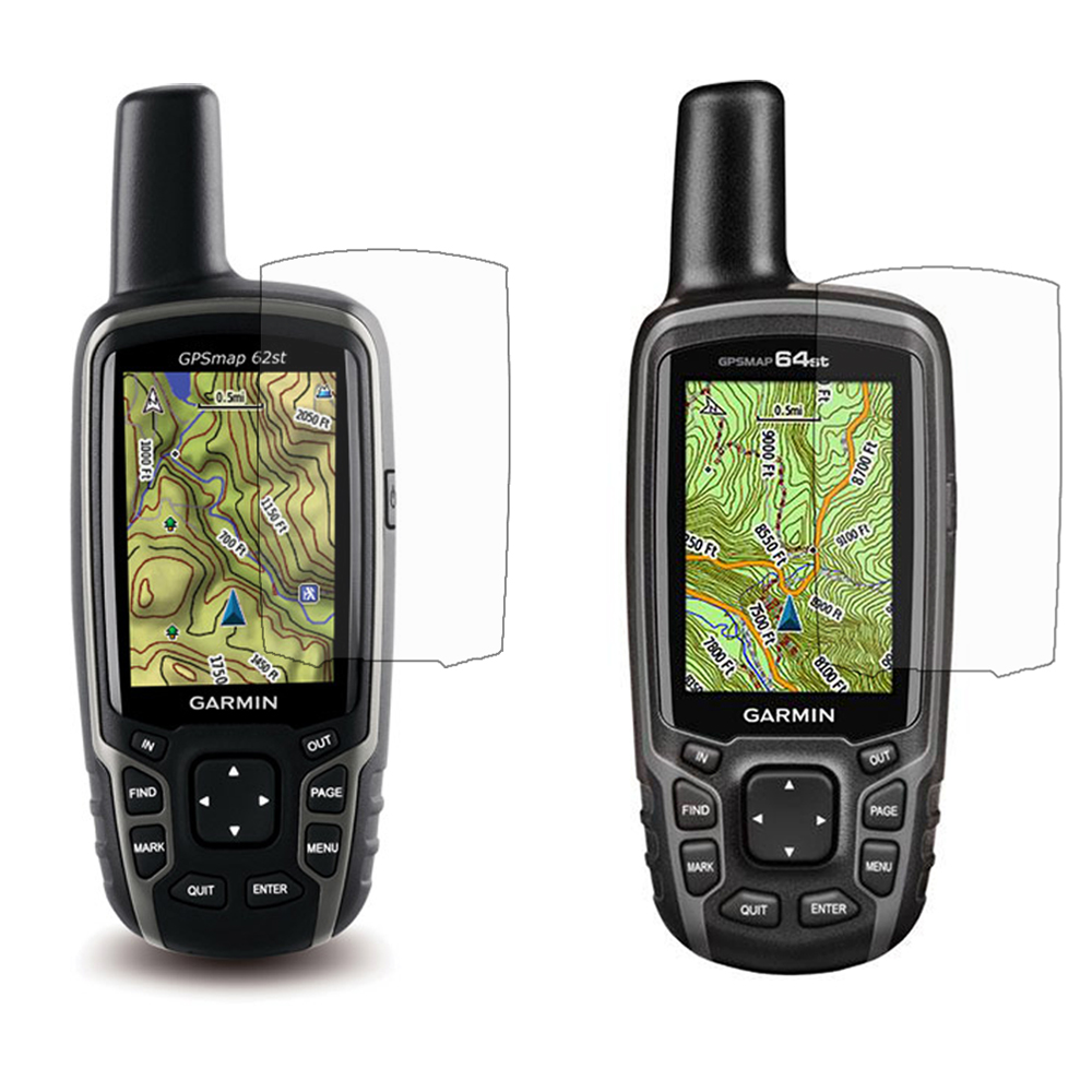 3x Clear LCD Screen Protector Cover Film Skin for Garmin Astro 320 220 GPSMap 62 64 62st 64st 62s 64s цены онлайн