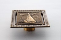 New Arrival Europe Style High Quality Bronze Brass Art Carved Square 120mm 120mm Size Deodorization Floor