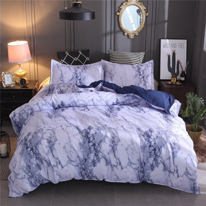 Image 2 - Simple Marble Bedding Duvet Cover Set Quilt Cover Twin King Size With Pillow Cas  great house warming gift modern dreaming stars