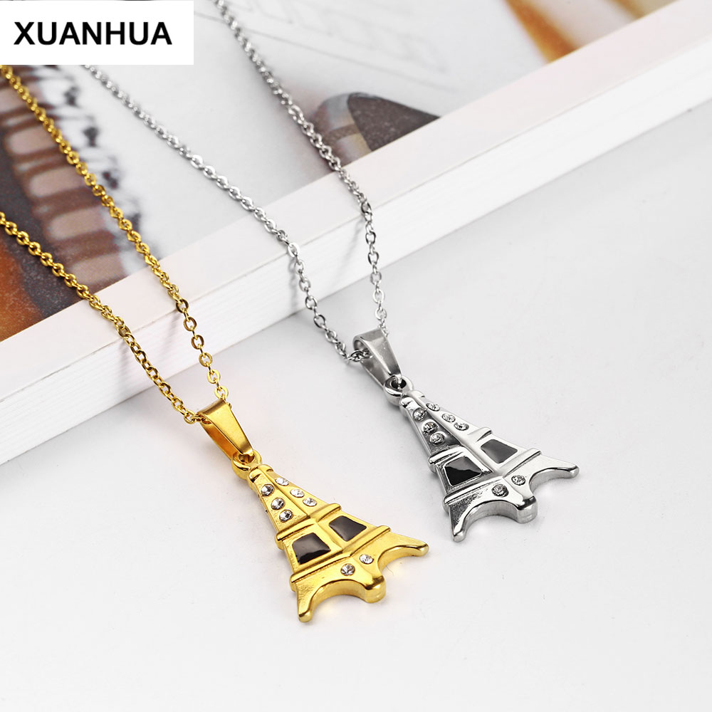 25PCS Nice Colorful Alloy Small Eiffel Tower Necklace Pendant Charms 38817