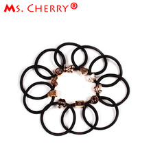 10pcs lot Black Rubber Band Casual Hair Ring Beauty Makeup Tools Accessories for Women Headwear Hair