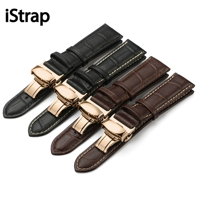 iStrap Genuine Leather Watchband Watch Band Strap for Casio  IWC Breguet 12mm 13mm 14mm 15mm 16mm 18mm 19mm 20mm 21mm 22mm 24mm