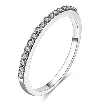 FAMSHIN Fashion Wedding Ring Crystal Zircon Rings Rose Gold Silver Color