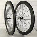 Углеродное колесо 50 мм Глубина колесная Лопата продвижение 700C Углеродные шоссейные велосипедные колеса