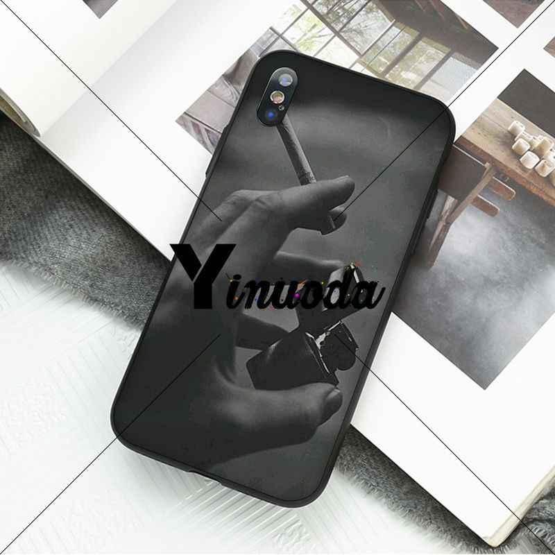 Yinuoda أحتاج السجائر بولي Silicone لينة سيليكون غطاء إطار هاتف محمول آيفون X XS ماكس 6 6S 7 7plus 8 8Plus 5 5s XR