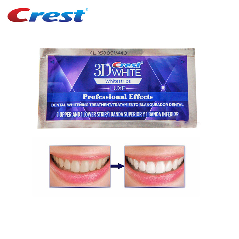 Crest 3d Teeth Whitestrips Luxe Professional Effects White Teeth