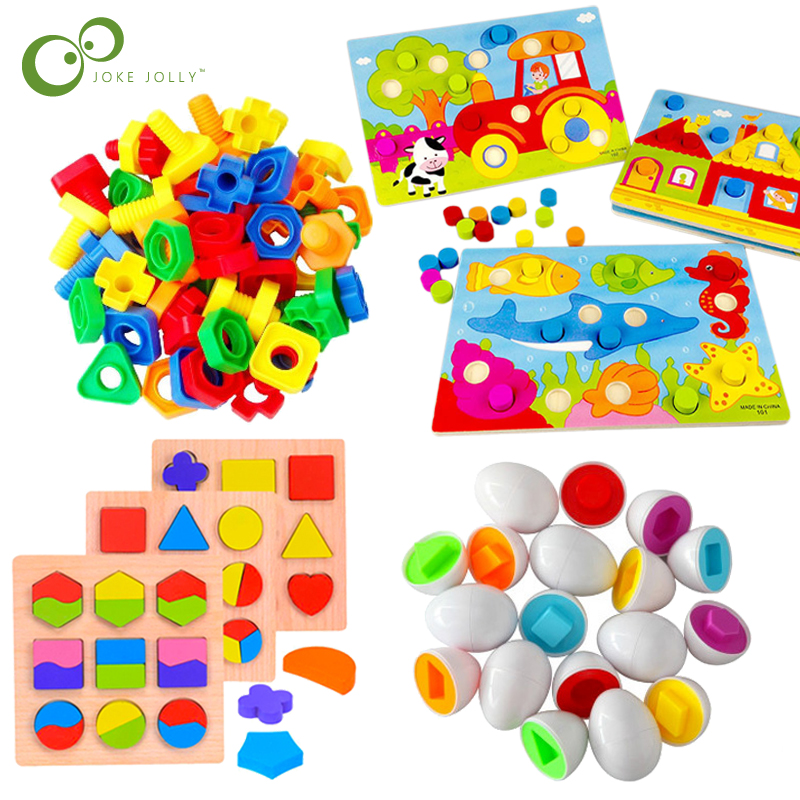 Colorful Cognition Board  Montessori Kids Educational Toy Children Jigsaw Puzzle Toys Color Shape Match Game Board  Baby Toy GYH Игрушка