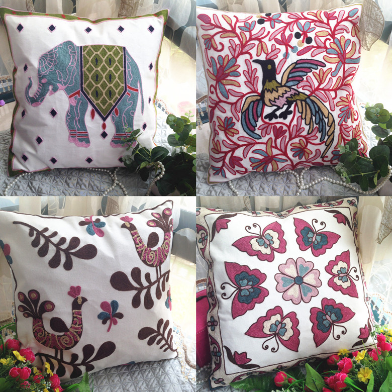 Custom Made Creative And Comfortable Decorative Cushion Covers Hand Enchanting Pillow Cover Hand Embroidery Designs