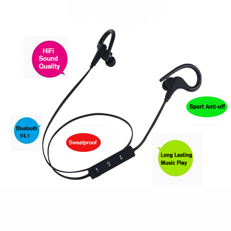 Hearing Aids Wireless Earphone Ear Hook Earphone noise cancelling with volume control hands free Ear bud Headset