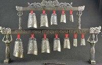 Classic Decorative Bronze Sculpture Of Rare Classical Instruments Chime