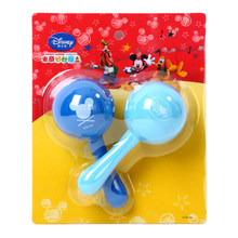 Disney 2pcs/set Baby Rattles  Baby Toys Gifts Newborn Boy Girl Over 3 Month Eco-friendly Licensed Cute Cartoon Hand Bell Rattles