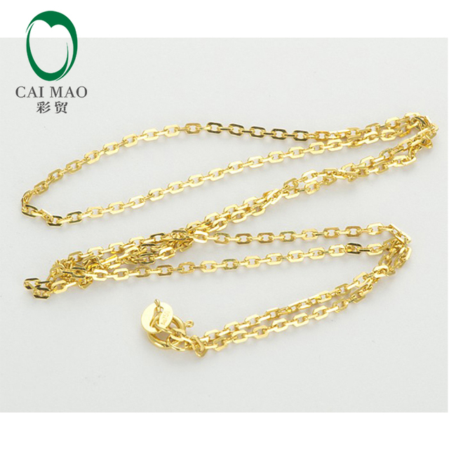 """Ladies 18CT Yellow Gold Link Chain Necklace 18"""" About 45cm Wholesale"""