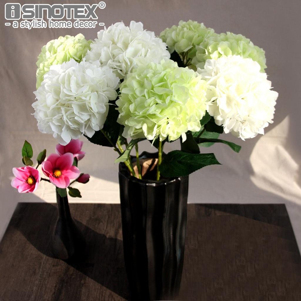 hydrangea artificial flowers diy silk decorative flowers fake flower bouquet fleur artificielle. Black Bedroom Furniture Sets. Home Design Ideas