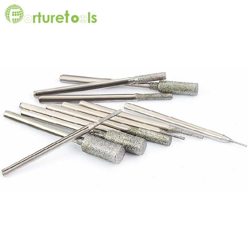 50 pcs diamant monté point dremel outil rotatif poinçon tige - Outils abrasifs - Photo 5